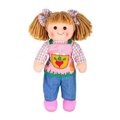 Ragdoll soft toy Elsie from Bigjigs first toy