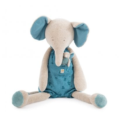 Moulin Roty Soft Toy Giant Elephant Baby First Toy