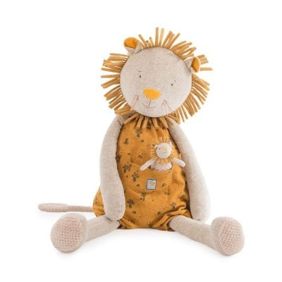 Moulin Roty Soft Toy Giant Lion Baby First Toy