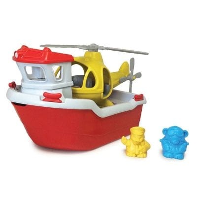 Greentoys Bath toy helicopter and rescue boat baby and toddler bath toy