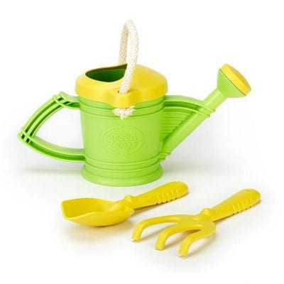 Outdoor watering can and garden tools for children Greentoys