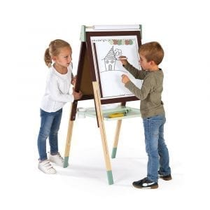 Janod Adjustable Easel Burgundy-Green