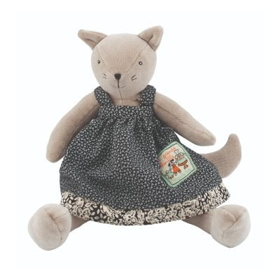 Moulin Roty Soft Toy Little Agathe the Cat Baby First Toy