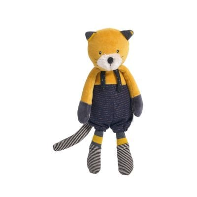 Moulin Roty Soft Toy Lulu the Yellow Cat Baby First Toy