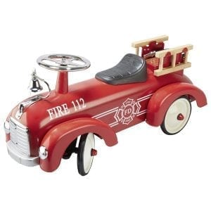 Fire Engine Metal Ride-on