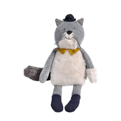 Moulin Roty Soft Toy Fernand the Cat Baby First Toy