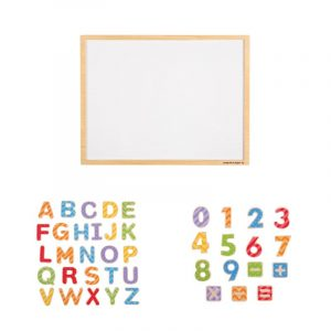 Large Magnetic Board with Magnetic Uppercase and Numbers
