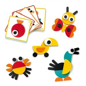 Djeco Geoanimo Wooden Construction Toy models