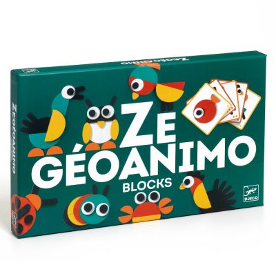 Djeco Geoanimo Wooden Construction Toy