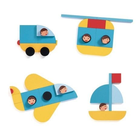 Djeco Geovroom Wooden Construction Toy examples
