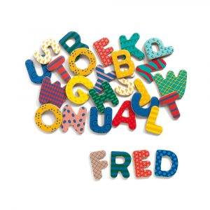Wooden Magnetic Uppercase Letters from Djeco
