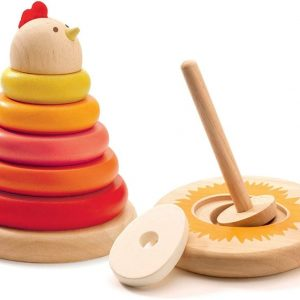 Stacking hen Djeco Toddler Toy for fine motor skills