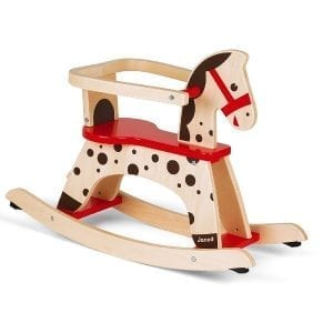 Wooden Rocking Horse Caramel Janod Traditional Toy