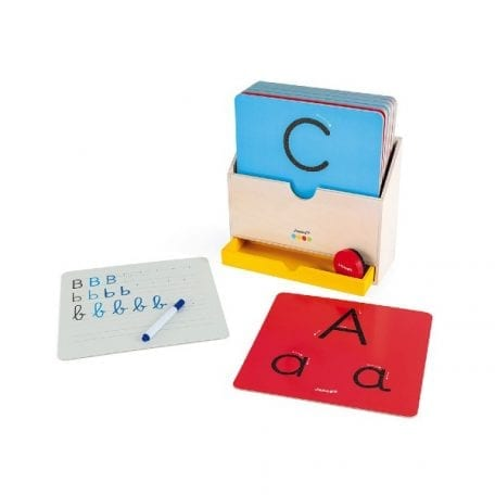 Janod Essential How to Write Preschool Toy with large sensory cards