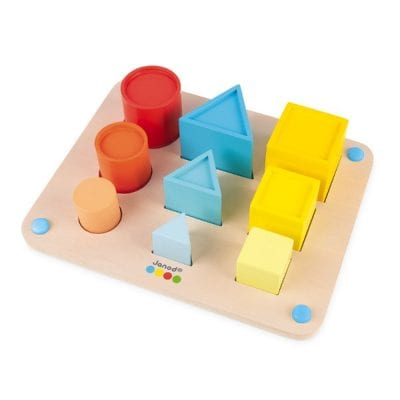 Janod Essential Learn Volume and Shapes Preschool Wooden Toy