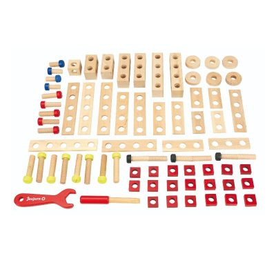 Jeujura wooden construction game 70 pieces