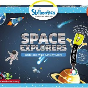 Skillmatics Space Explorers Write & Wipe Activity Mats