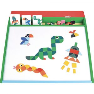 Vilac Creamagnet game with magnetic colourful magnetic pieces and magnetic board