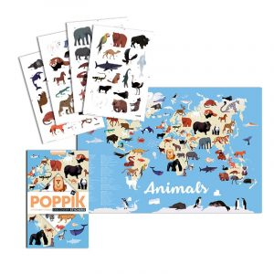 Discovery Sticker Poster Animals of the World