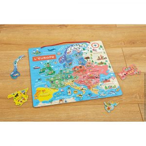 Janod Magnetic European Map – French Only